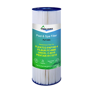 Pool Water Filter for UNICEL C-9410, PLEATCO PAP100-4, FIBUR FC-0686 (PLF100A)