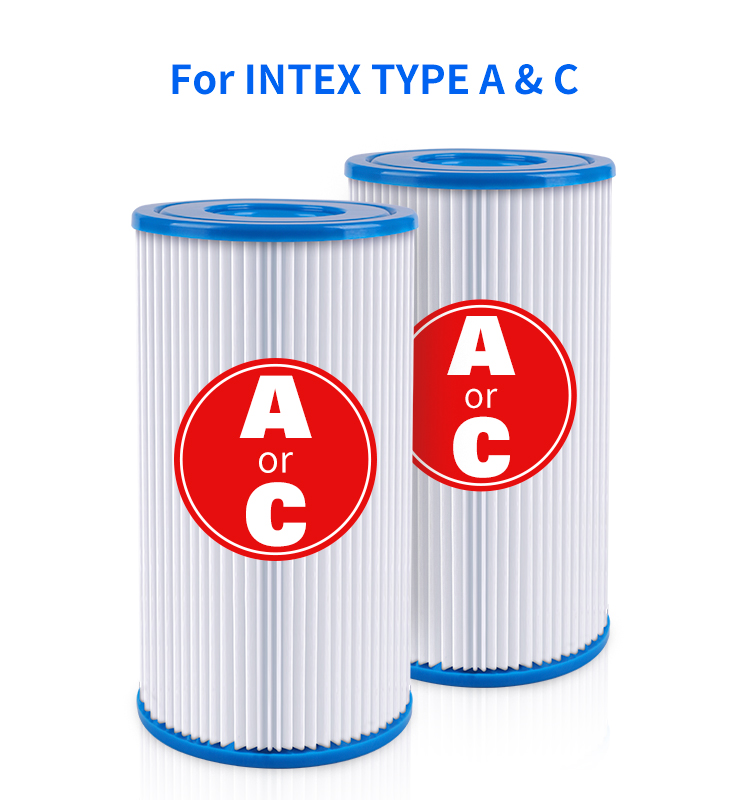 Pool Filter for Krystal Clear 02&12R; Summer Escapes; Intex Type A&C